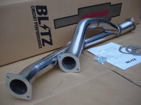 新品!BLITZ フロントパイプ スカイラインGT-R BNR32 BCNR33 BNR34 ステンレス ブリッツ RB26DETT 21554 _GT-Rフロントパイプ アップ