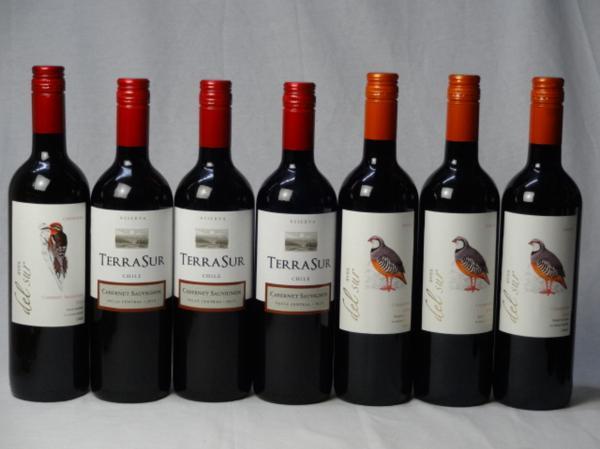 チリ赤ワイン7本セット デル・スール カベルネ・ソーヴィニ_画像1