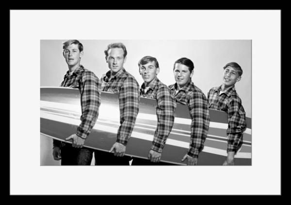 BW:人気サーフ・ロック・グループ!ザ・ビーチ・ボーイズ/The Beach Boys/モノクロ写真フレーム-2