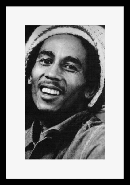 BW:人気ジャマイカ・レゲエバンド!Reggae/ボブ・マーリー&ザ・ウェイラーズ/Bob Marley & The Wailers/モノクロ写真フレーム-3