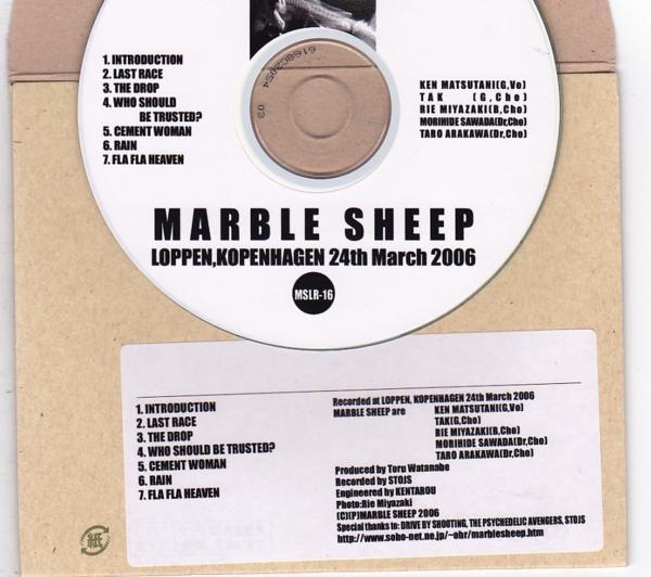 CD-R/MARBLE SHEEP / LOPPEN,KOPENHAGEN 24th March 2006_画像2