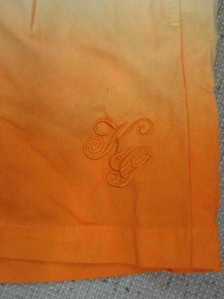 o183 Kappa ショートパンツ 9 綿100% オレンジ→白グラデーション_画像3