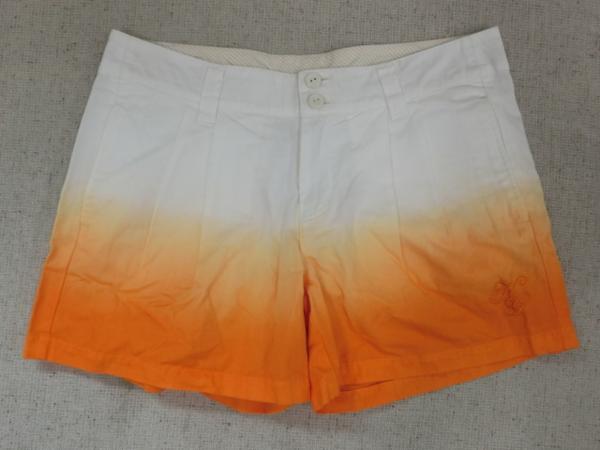 o183 Kappa ショートパンツ 9 綿100% オレンジ→白グラデーション_画像1