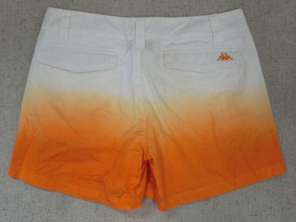 o183 Kappa ショートパンツ 9 綿100% オレンジ→白グラデーション_画像4
