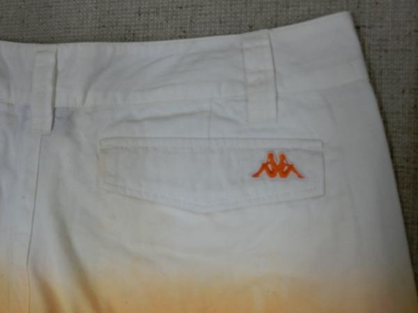 o183 Kappa ショートパンツ 9 綿100% オレンジ→白グラデーション_画像5