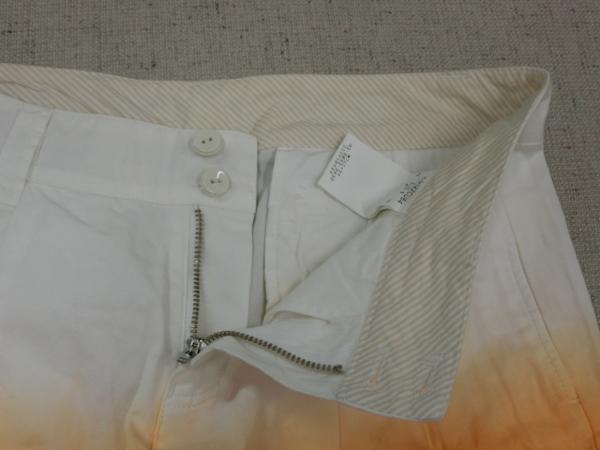 o183 Kappa ショートパンツ 9 綿100% オレンジ→白グラデーション_画像6