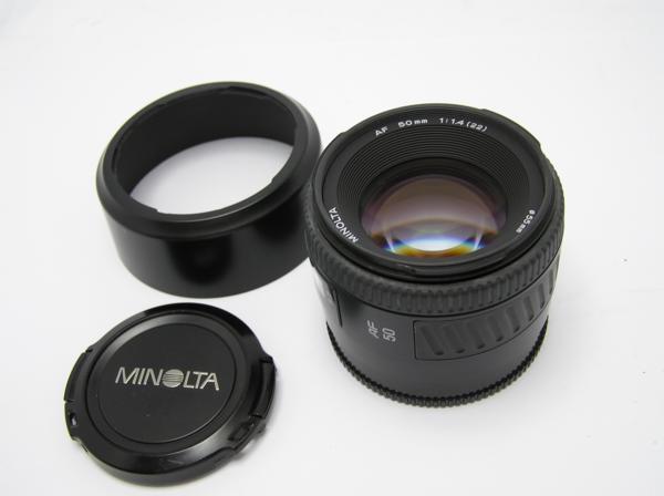 ★ハロ-カメラ★5831 MINOLTA AF NEW (50mm/1.4) レンズ 多少の難有り 動作品 現状 外観は綺麗 美品