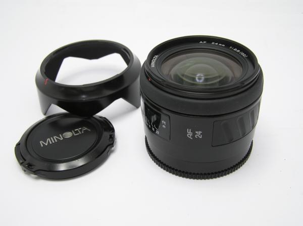★ハロ-カメラ★5833 MINOLTA AF (24mm/2.8) レンズ 動作品   現状
