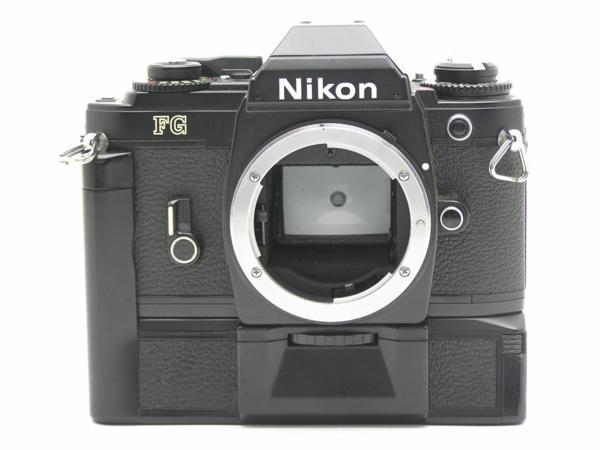 ★ハロ-カメラ★5841 Nikon FG 黒 MD-E付 Body 難有 動作品 希少品