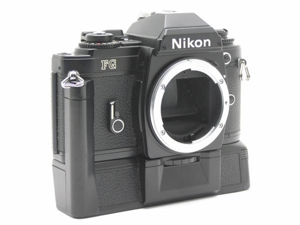★ハロ-カメラ★5841 Nikon FG 黒 MD-E付 Body 難有 動作品 希少品_画像2