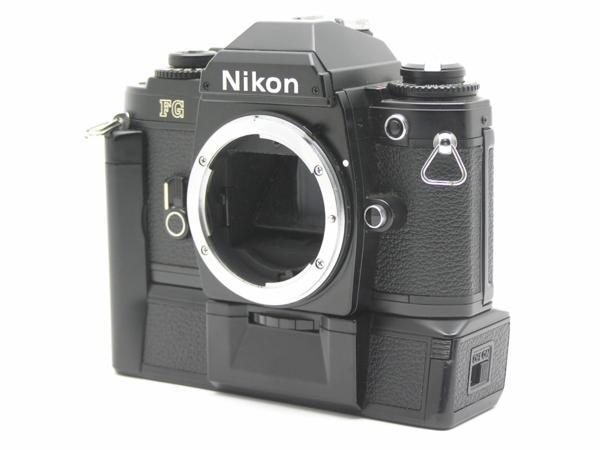 ★ハロ-カメラ★5841 Nikon FG 黒 MD-E付 Body 難有 動作品 希少品_画像3