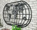 世界地図 壁掛け インテリア ディプレイ モノクロ オシャレ インテリア
