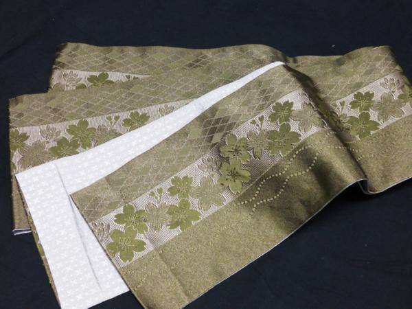 ☆オリジナル製レトロ木綿着物(ゆかた)+帯セット現品限り⑯_京都西陣製小袋帯