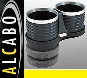 【M's】マセラティ クアトロポルテ 5代目(2004y-2012y)/グラントゥーリズモ(2007y-)ALCABO 高級 ドリンクホルダー(BK+リング) AL-B109BS_画像1