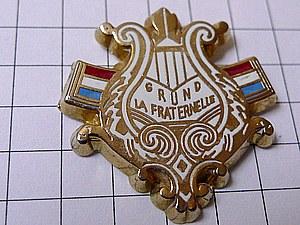 限定レア美品ピンズ◆竪琴フランス国旗トリコロールピンバッジフ