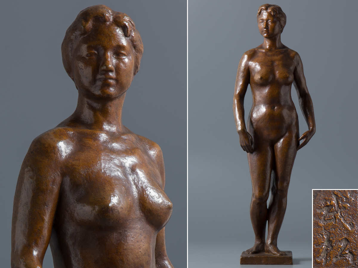【五】進藤武松 ブロンズ 裸婦像 高52cm 重6.6kg