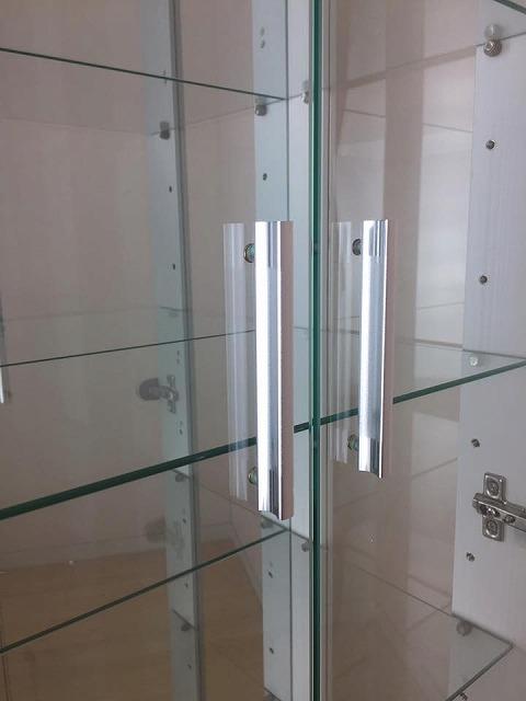 ◆激安家具◆50コレクションボード!木目調ホワイト!高さ145cmガラス棚4枚付!送料無料(一部地域別途送料有)★km68wh_画像5