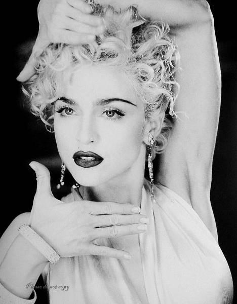 マドンナ Madonna アート フォト モノクロ 写真 超光沢仕様