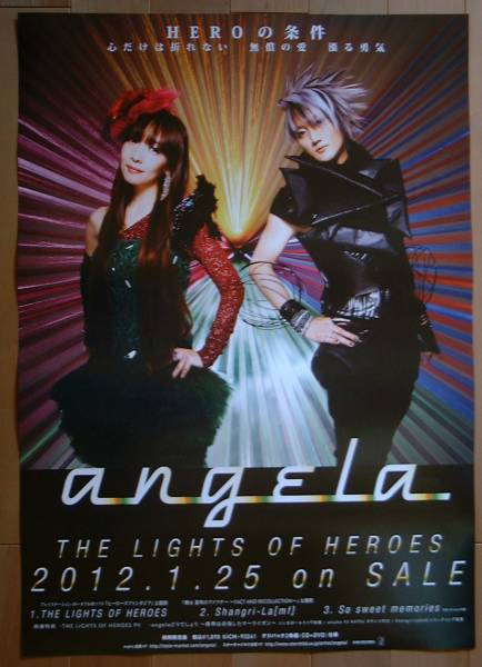 ★angela/THE LIGHTS OF HEROES 未使用告知ポスター