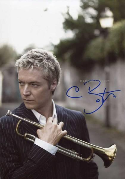 トランペット奏者 Chris Botti クリス・ボッティ サイン フォト 他、1枚モノクロ写真付き