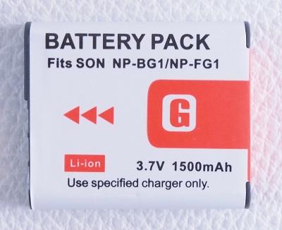 1500mAh★SONY NP-BG1 NP-FG1互換バッテリーDSC-H7/H55/HX5V