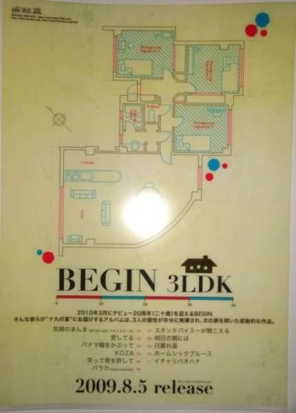 非売品★BEGIN 3LDK クリアファイル★特典