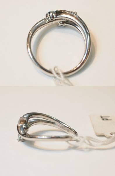 新品 送料無料! Pt900製ブルー ダイヤ 0.3ct トリオ スリム デザイン リング//プラチナ/天然石 指輪/込み/青/値下げ 在庫処分/即決有り_裏側まで丁寧に作られています。