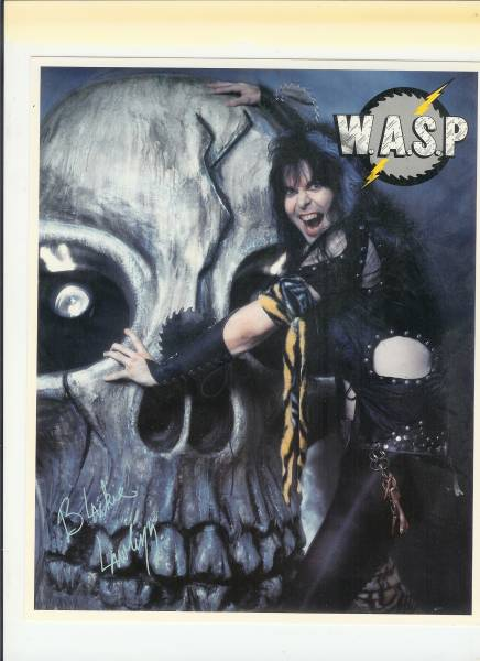 W.A.S.P ブラッキー・ローレス輸入厚紙ピンナップ 1985年製