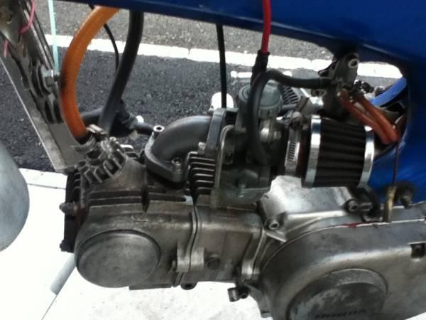 「絶版名車dax ダックス50改88cc ダックス70ヘッド PC20キャブVTR1000オイルクーラー キタコオイルクーラー取出口キタコハイカム」の画像2