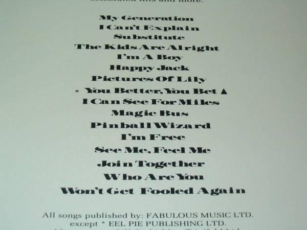 LD.The Who.ザ・フーズ・ベター・フーズ・ベスト新品_画像3