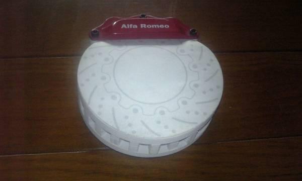 ALFAROMEO/アルファロメオ ロゴ入り ブレーキ型メモ用紙_表紙に保管時の汚れがございます。