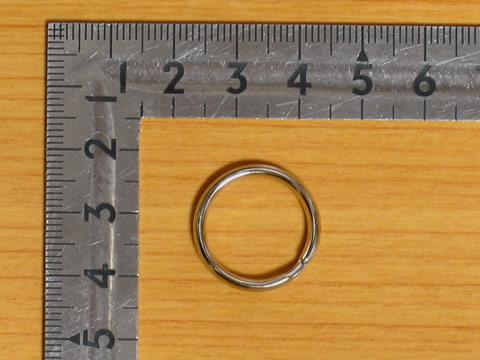 押二重リング 16mm ニッケル 50個セット シルバー 金具屋_画像2