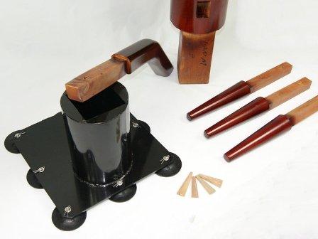 ▽詠春拳で使用! 吸盤固定式自立型木人椿 スタンダード△_部品点数が劇的に少ないのが特徴。