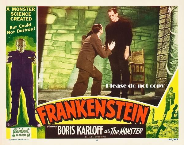 1931年フランケンシュタイン/Boris Karloff/ロビーカード2枚付き