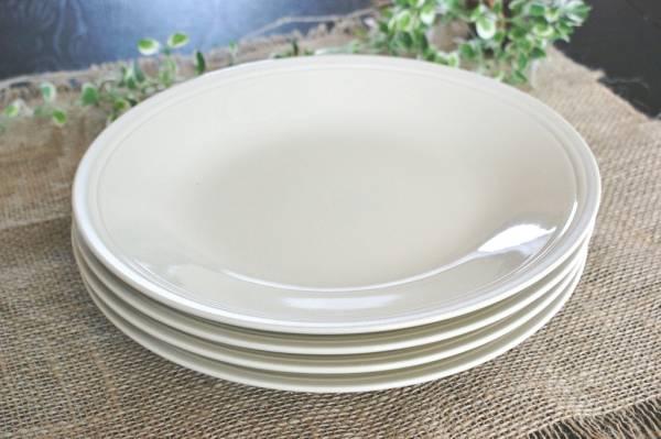 ■リンドスタイメスト■クリームホワイト ディナー皿28cm■4枚  (複数落札可能)_4枚セットです! (複数落札可能)