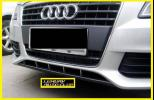 Audi アウディ A4 B8 カーボン フロントバンパーカバー エアロ スポイラ- リアルカ-ボン綾織り ボディ-パ-ツ 外装カスタム 高品質