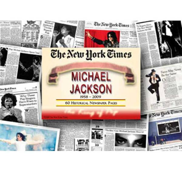 マイケルジャクソン The New York Times Historical NewsPaper