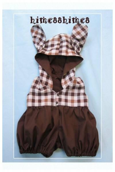型紙★ダッフィー・シェリーメイ洋服★40 うさ耳オ-ルインワン
