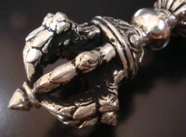 ◆チベット密教法具 九鈷杵(アンティークシルバー)-3