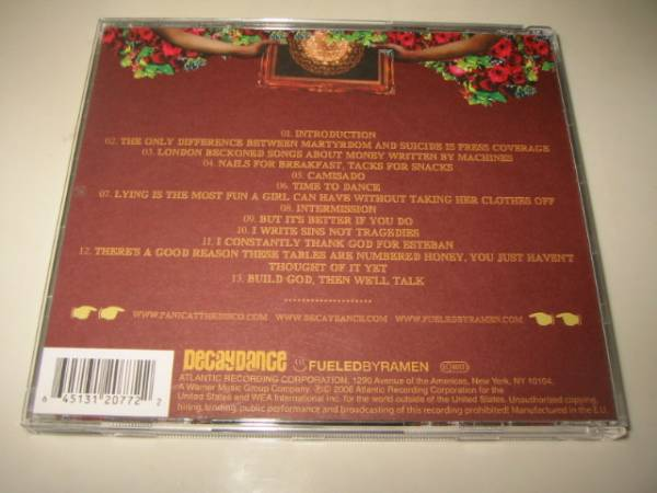 ★PANIC!AT THE DISCO(パニック!アット・ザ・ディスコ)【A FEVER CAN'T SWEAT OUT】CD[輸入盤]_画像3