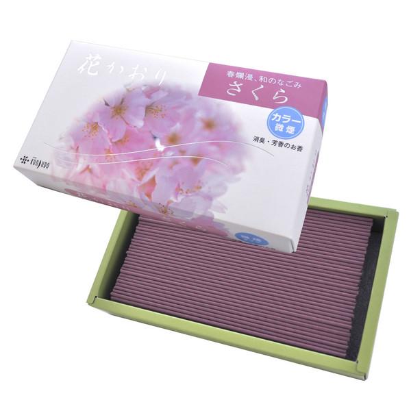 淡路島 薫寿堂 謹製 花かおり さくら 微煙 消臭成分配合 バラ詰