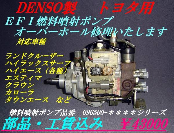 噴射ポンプ ランドクルーザー LJ71・78 KZJ71・78・90・95_画像1