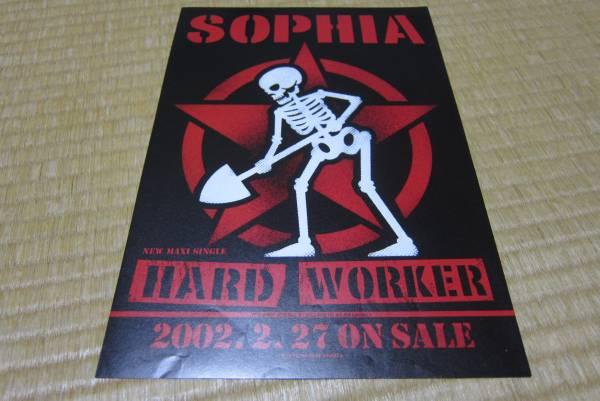 ソフィア sophia シングル cd 発売告知チラシ hard worker 2002