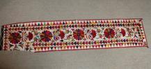 インド 絹に絹糸刺繍 グジャラート地方 1910年代 壁飾り