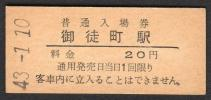 (東北本線)御徒町駅20円