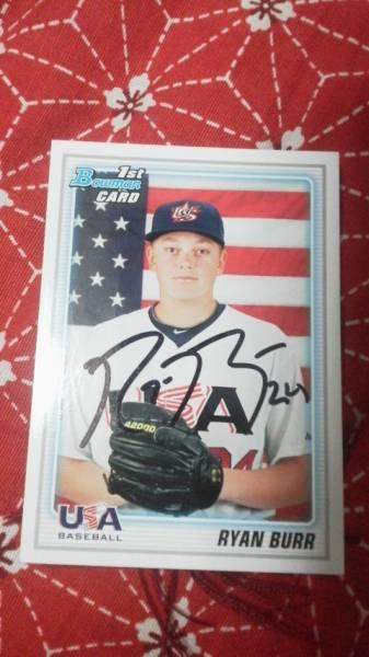 2013日米大学野球USAアメリカ代表ライアンバー直筆サインカード