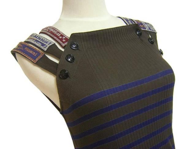 【送料無料・返品可】 美品 Jean Paul GAULTIER ジャンポール・ゴルチエ イタリア製 リブニット ワンピース ドレス