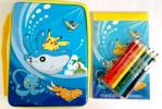 ポケモン 缶入りメモセットE メモ帳 色鉛筆 マナフィ タマンタ ブイゼル ピカチュウ 同梱可