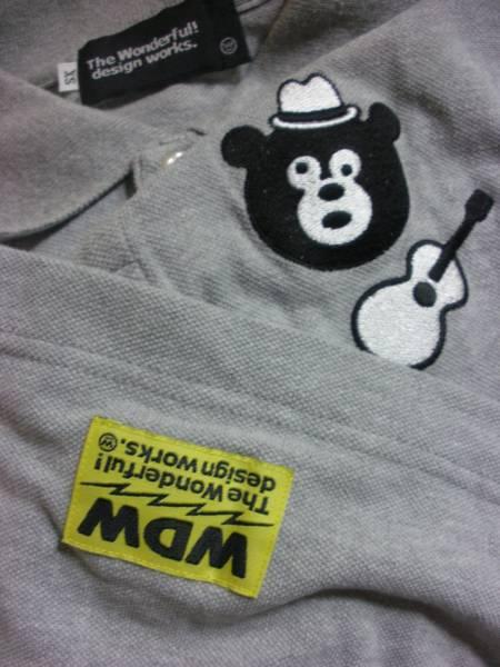 BEAMS-T ビームス クマ 熊刺繍 ポロシャツ ワンダフルデザイン _画像2