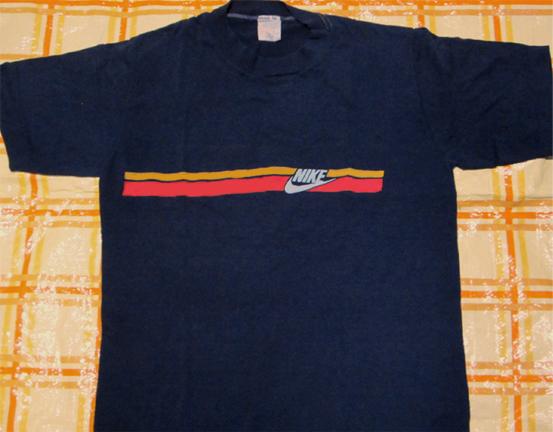 激レア70-80年代アメリカ製ナイキTシャツNIKEビンテージ初期オリジナルUSA当時物オレンジタグ白タグ紺タグ青ネイビーMスニーカー全盛期_画像1